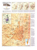 1996 Jerusalem Map Posters by  National Geographic Maps