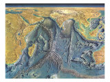 1967 Indian Ocean Floor Map Prints by  National Geographic Maps