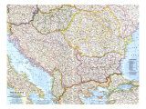 1962 The Balkans Map Prints
