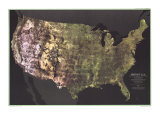 1976 Portrait USA Map Poster by  National Geographic Maps