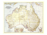 Australia Map 1948 Prints