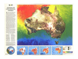 Australia Continental Odyssey Map 1988, Giclee Print