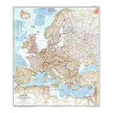 1957 Europe Map Art