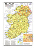 1981 Ireland and Northern Ireland Visitors Guide Map Print by  National Geographic Maps