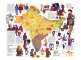 Peoples of South Asia Map, 1984