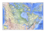1985 Canada Map Posters by  National Geographic Maps