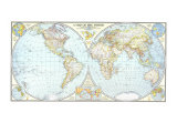 1941 World Map Affiches par  National Geographic Maps