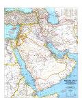 Детальна карта Середнього Сходу.