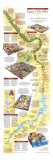 1995 Egypts Nile Valley South Map Print by  National Geographic Maps