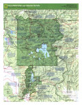 1989 Yellowstone and Grand Teton Map Side 1 Posters by  National Geographic Maps