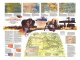 Central Plains Poster Map, National Geographic