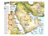 1991 Middle East, States in Turmoil Map Pôsters