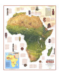 Heritage Of Africa Map 1971 Posters