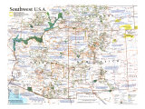 1992 Southwest, USA Map Print