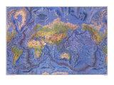 World Ocean Floor Map 1981 Poster por National Geographic Maps