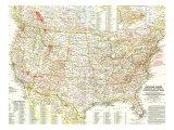 1958 National Parks Map Prints