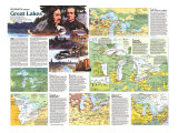 1987 Great Lakes Map Side 2 Poster