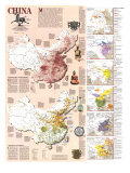 1991 China History Map Posters by  National Geographic Maps