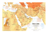 Middle East: States In Turmoil Map 1980, Poster