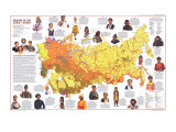 1976 Peoples of the Soviet Union Map Posters