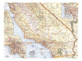 Southern California Map 1966 Prints
