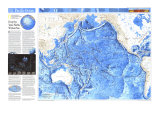1992 Pacific Ocean Map Posters