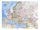 Europe Map 1962 Kunst af National Geographic Maps