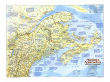 Maine, with the Maritime Provinces 1975 Map, Giclee Print