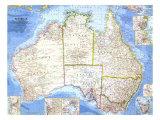 1963 Australia Map Prints