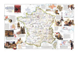 1989 Historical France Map Posters