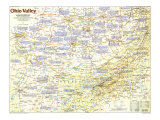 Ohio Valley Map Poster, 1985, side 1