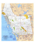 British Columbia, Alberta And The Yukon Territory Map Posters