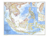 Southeast Asia Map, Giclee Print
