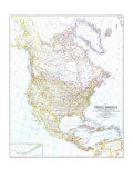 1942 North America Map Prints by  National Geographic Maps