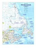 1993 Making of Canada, Atlantic Canada Map Posters by  National Geographic Maps