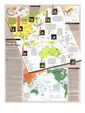 Pacific Rim Map Poster, 1989
