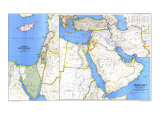 Middle East Map 1978 Poster