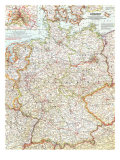 1959 Germany Map Prints by  National Geographic Maps