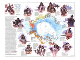 Peoples Of The Arctic Map 1983 Print