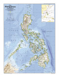 Philippines Map 1986 Plakat af National Geographic Maps