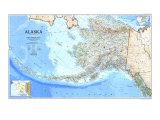 1994 Alaska Map Poster