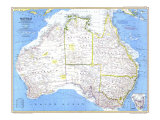 Australia Map 1979 Posters