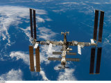The International Space Station is still being assembled in stages Photographic Print