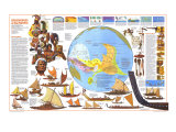 Discovers of the Pacific Map Poster, 1974