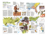 Deep South Map Poster, 1983, side 2