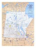 1979 Saskatchewan and Manitoba Canada Map Posters