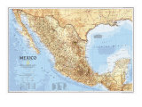 1994 Mexico Map Poster by  National Geographic Maps