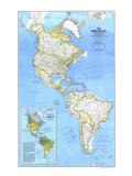 1979 The Americas Map Posters by  National Geographic Maps