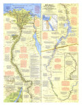 Nile Valley, Land Of The Pharaohs Map 1965 Prints