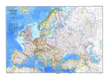 Europe Map 1983 Prints